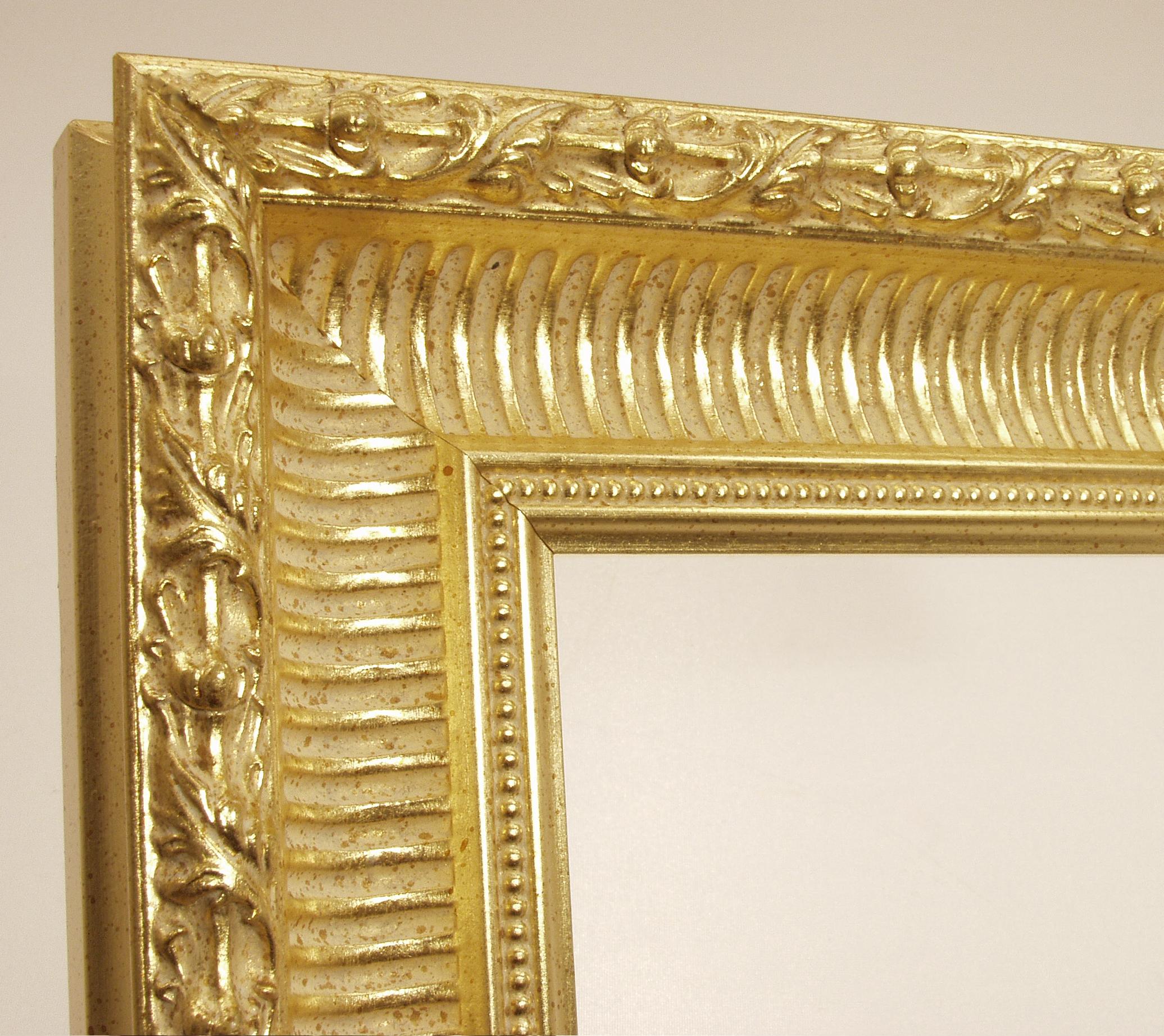 Bilderrahmen Juliane, Barock Bilderrahmen - Gold