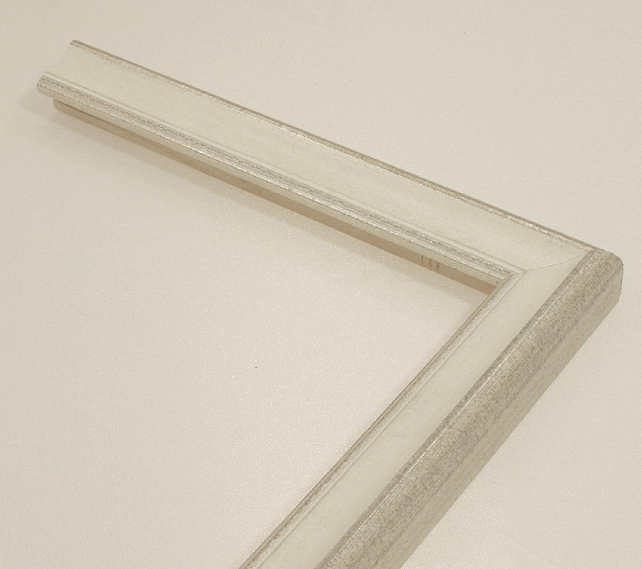 Bilderrahmen Karlota, Italienischer Bilderrahmen - Weiß, Silber