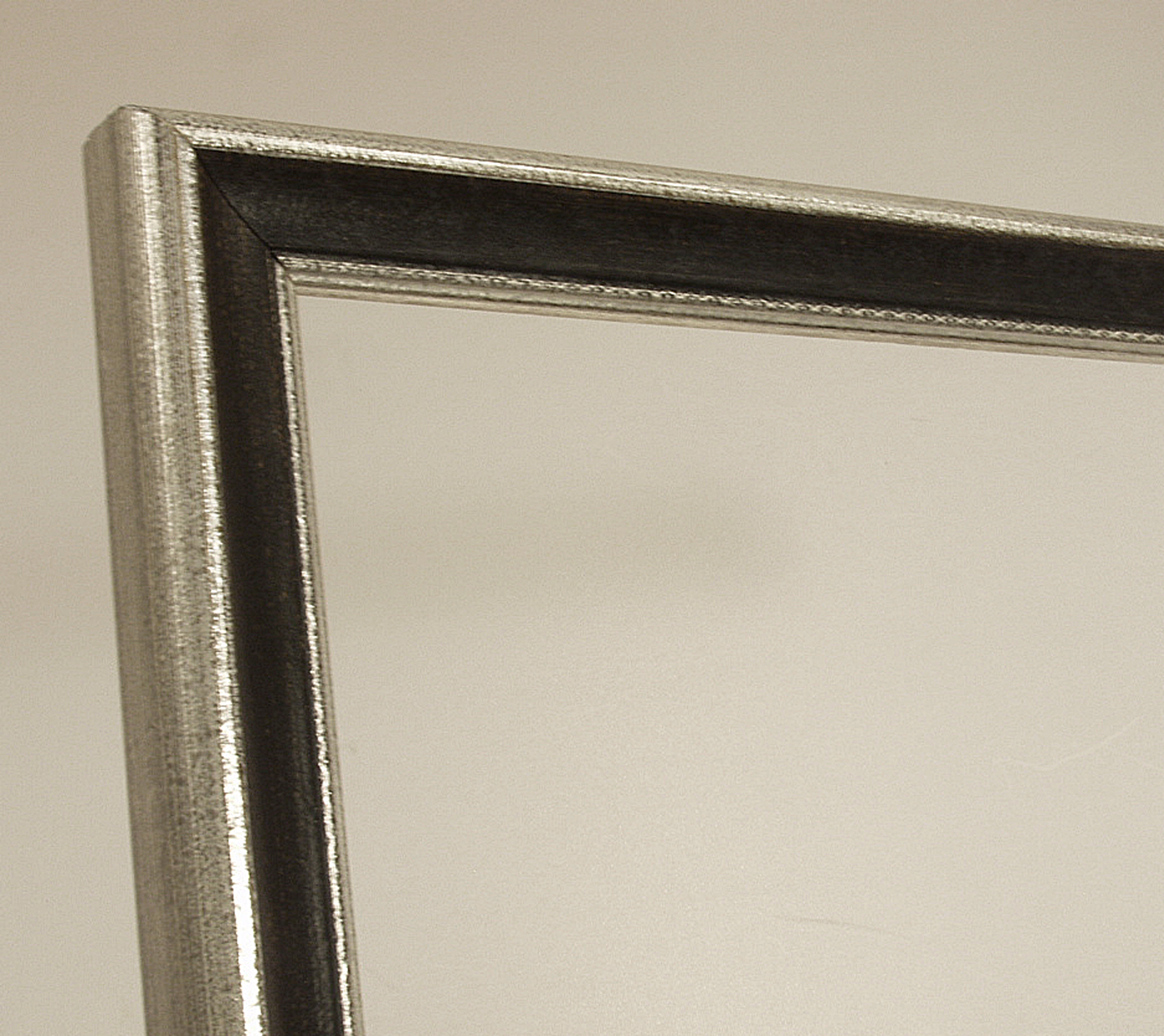 Bilderrahmen Vittoria, Italienischer Bilderrahmen - Schwarz, Silber
