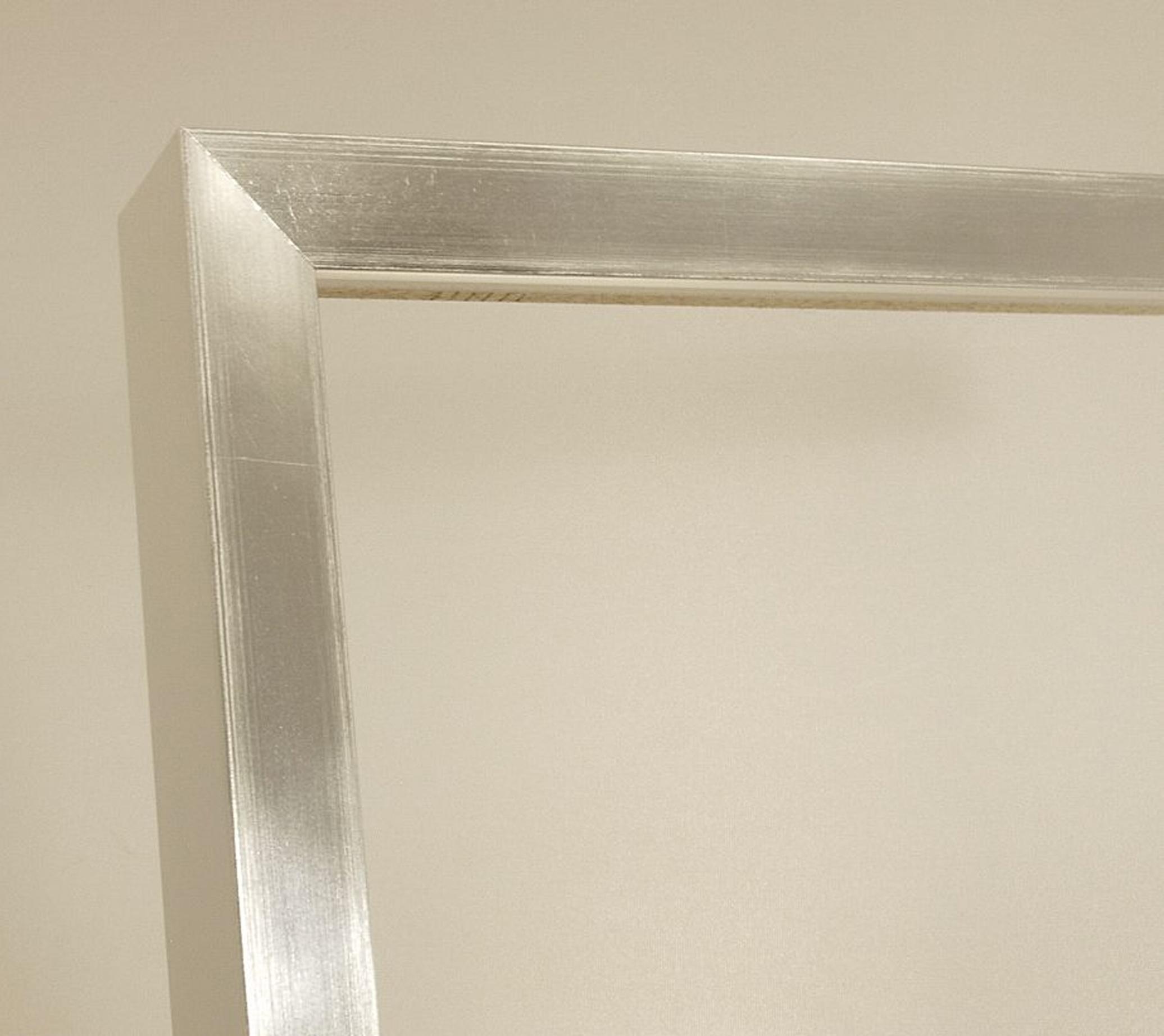 Bilderrahmen Stefanie, Moderner Bilderrahmen - Weiß, Silber