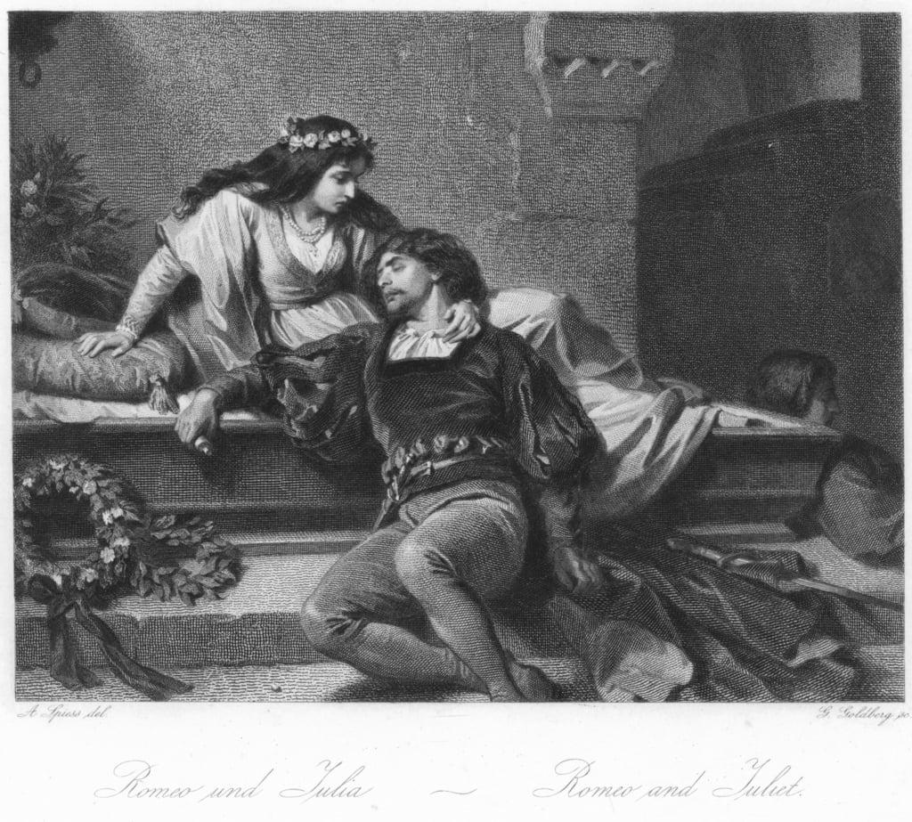 Szene aus Romeo und Julia von August Spiess (#138015)