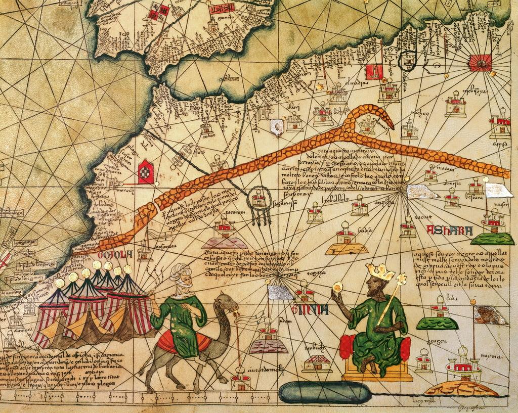 Detail der Kopie einer katalanischen Karte von Europa u... (#56647)