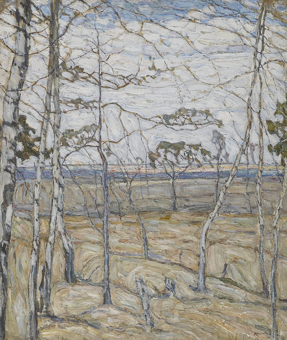 Birch Trees by Abraham Manievich