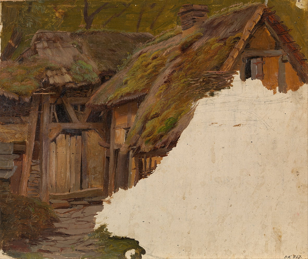 Study of an old Farm by Adolph Tidemand