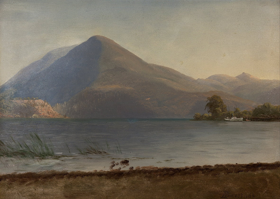 On the Hudson by Albert Bierstadt
