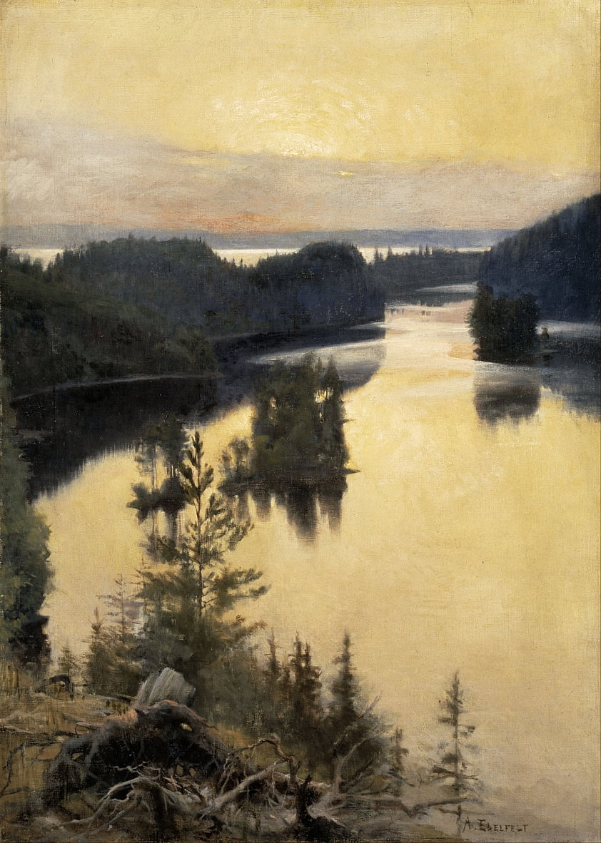 Kaukola Ridge at Sunset von Albert Gustaf Aristides Edelfelt