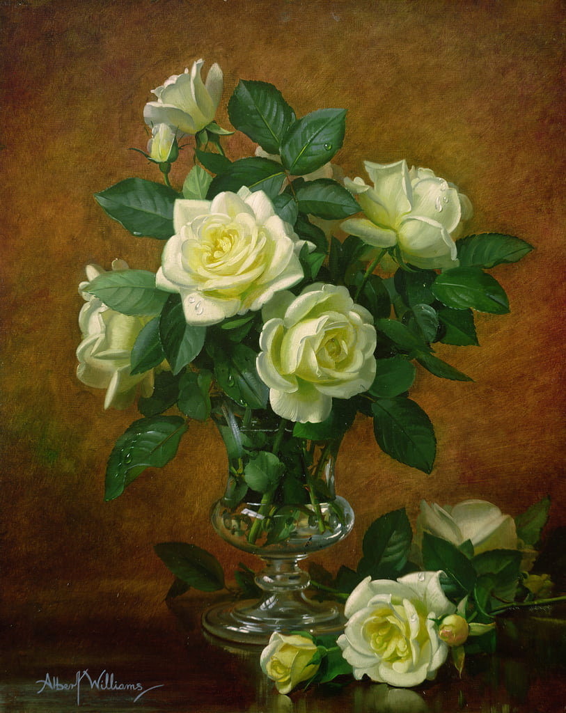 Gelbe Rosen von Albert Williams
