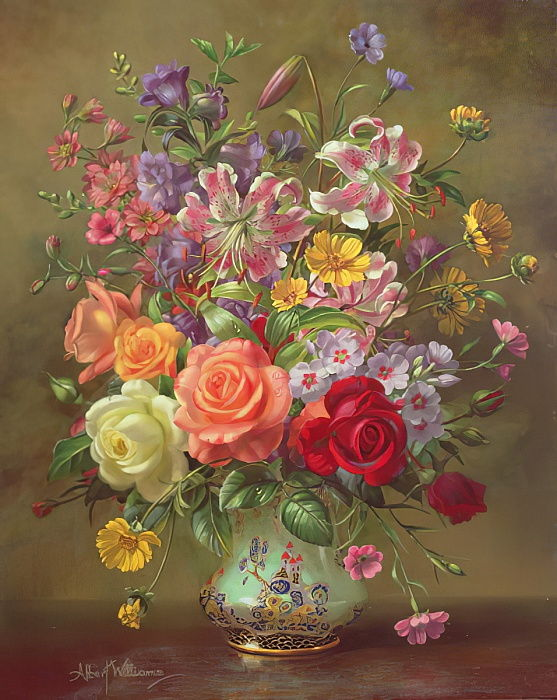 AB316 A Summer Floral Arrangement, 1996 von Albert Williams