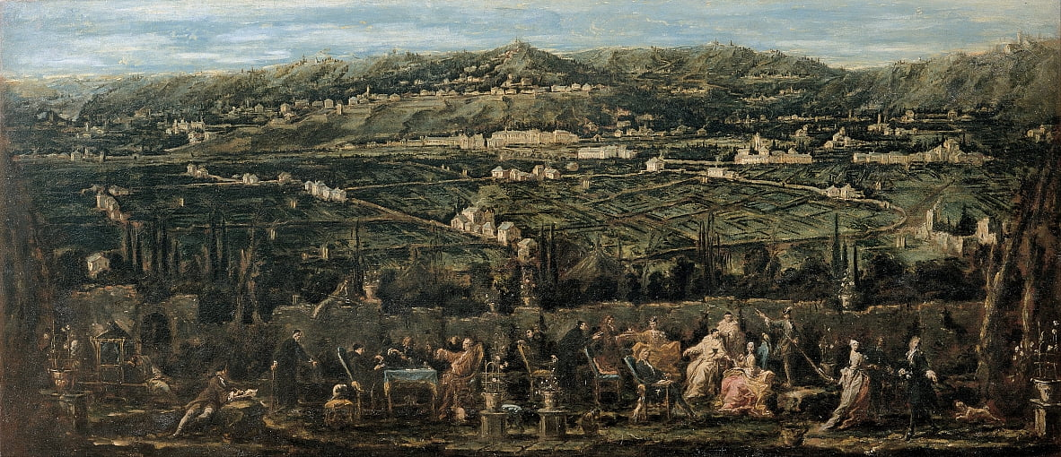 Garden Party in Albaro von Alessandro Magnasco