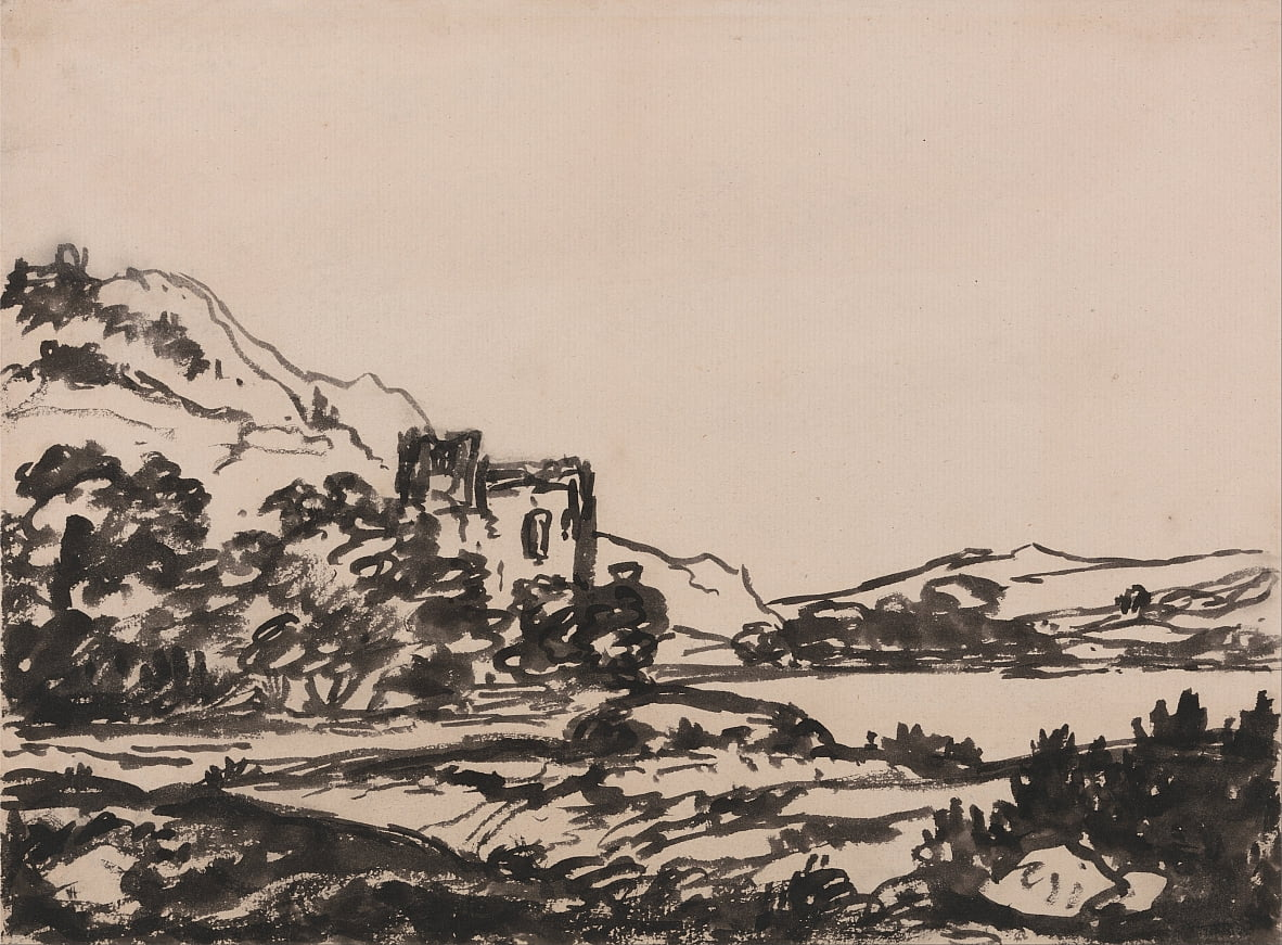 Castle in a Landscape by Alexander Cozens