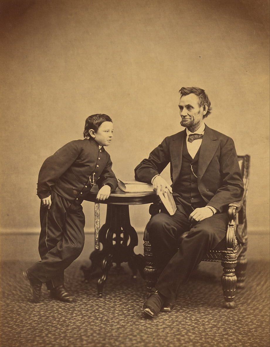 Abraham Lincoln and His Second Son Thomas  by Alexander Gardner