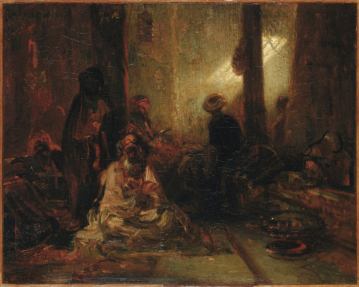 Interior of a Turkish Cafe by Alexandre Gabriel Decamps