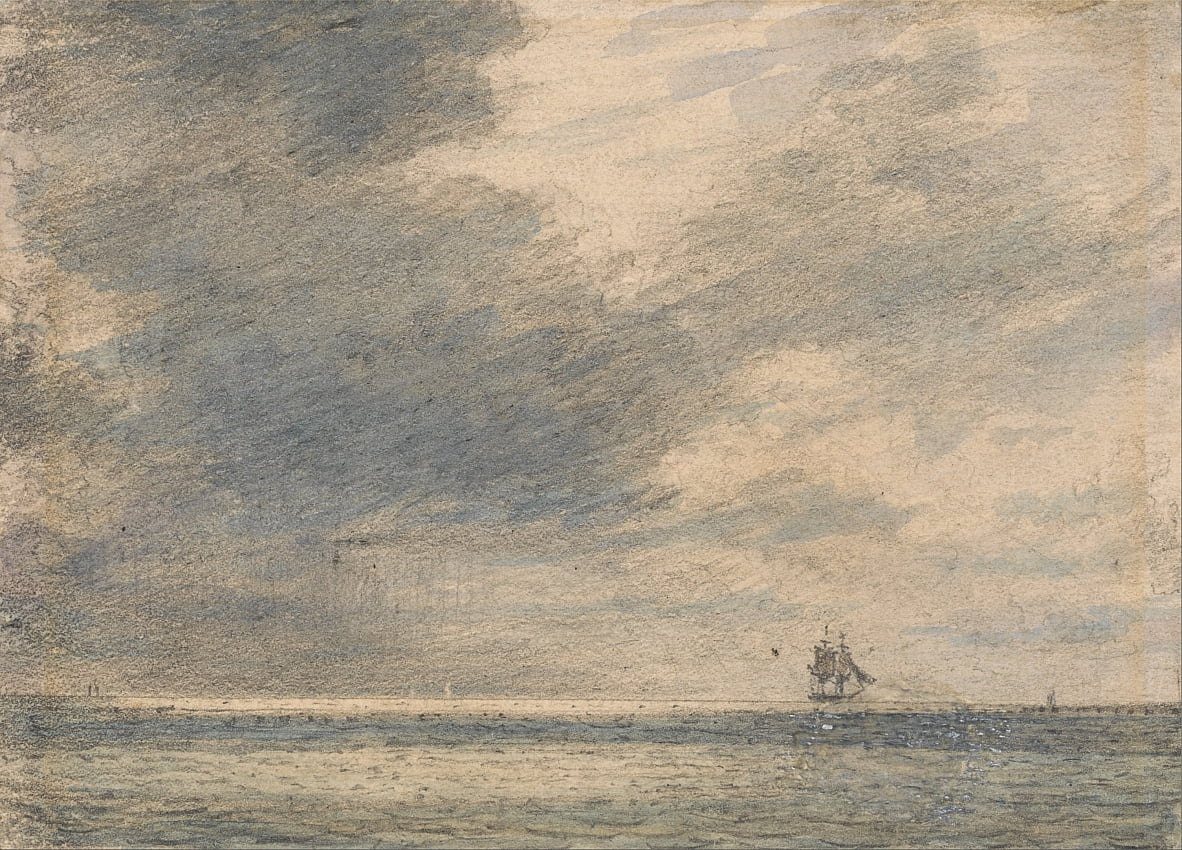 Evening at Sea by Alfred Abram Constable