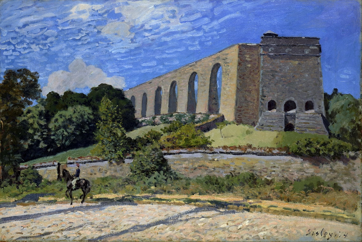 Aqueduct at Marly by Alfred Sisley