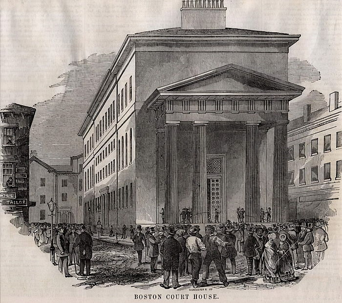 Boston Court House, 1851 (Holzstich) von American School