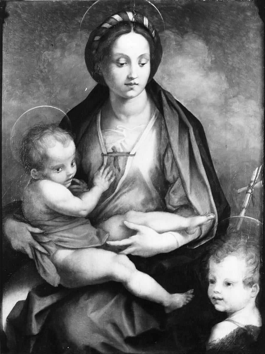 Madonna and Child with St John by Andrea del Sarto