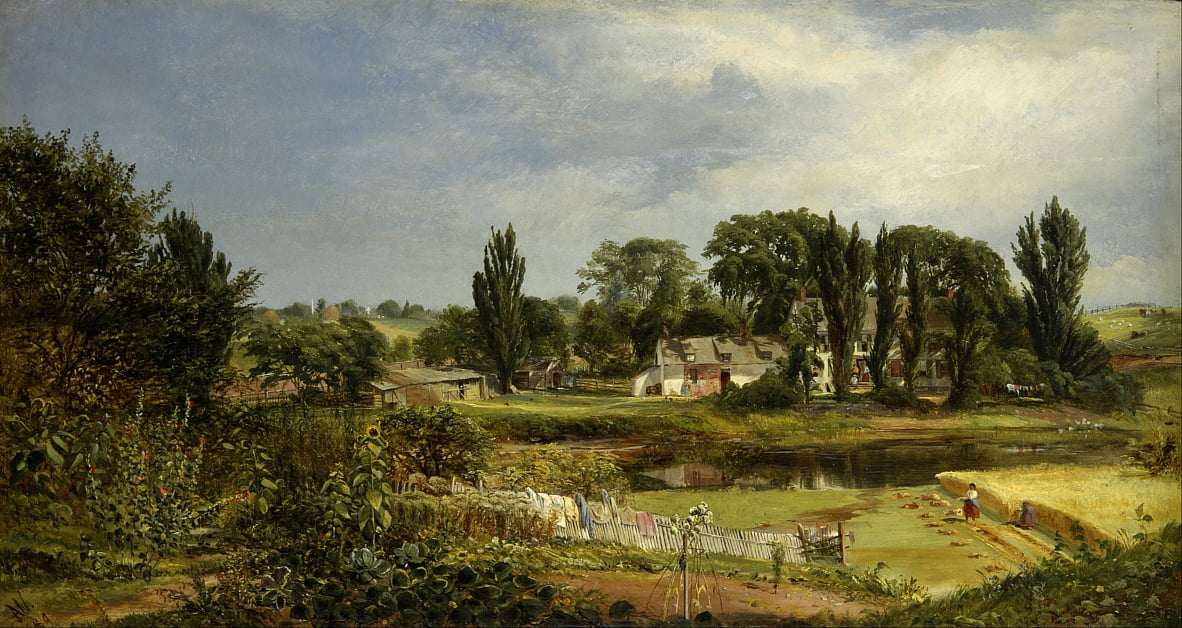 Long Island Homestead, Study from Nature by Andrew W. Warren