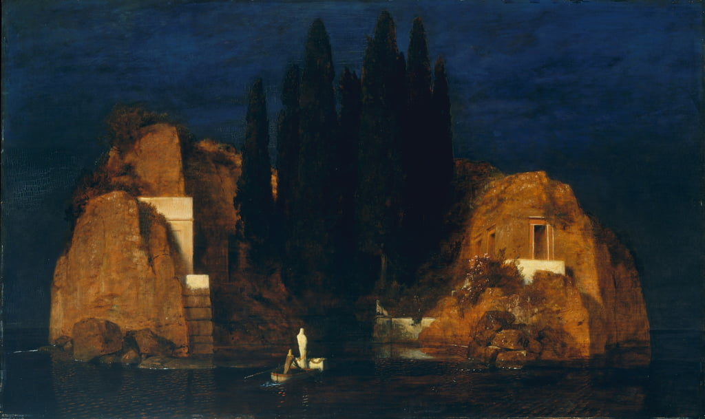 Isle of the Dead, zweite Version, 1880  von Arnold Böcklin