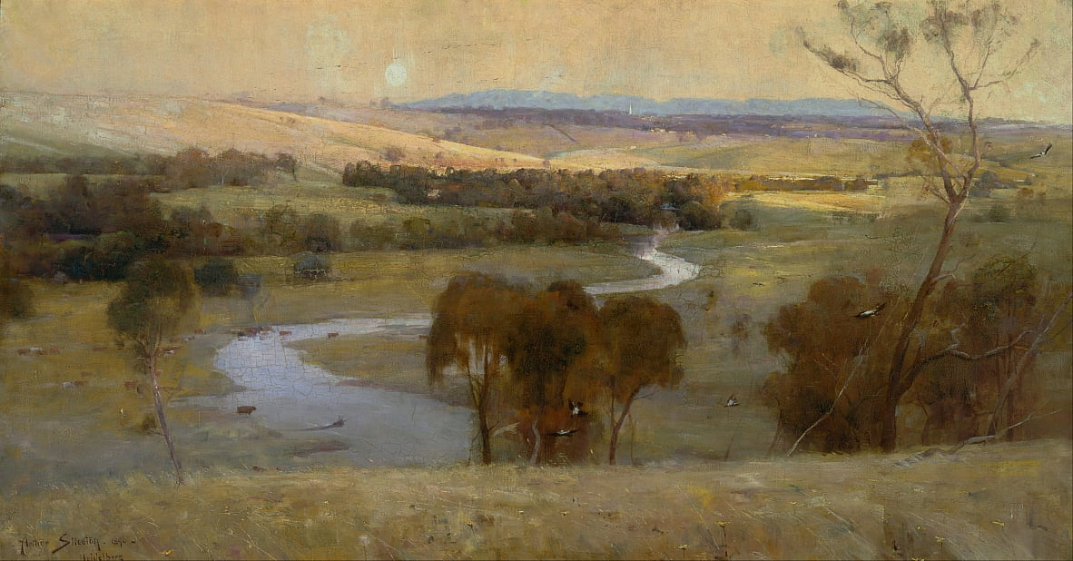 Still glides the stream, and shall for ever glide by Arthur Streeton