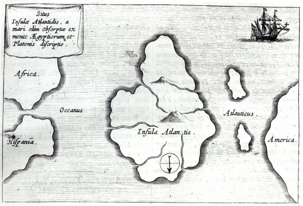 Karte Von Atlantis Von Mundus Subterraneus 1665 68 103405