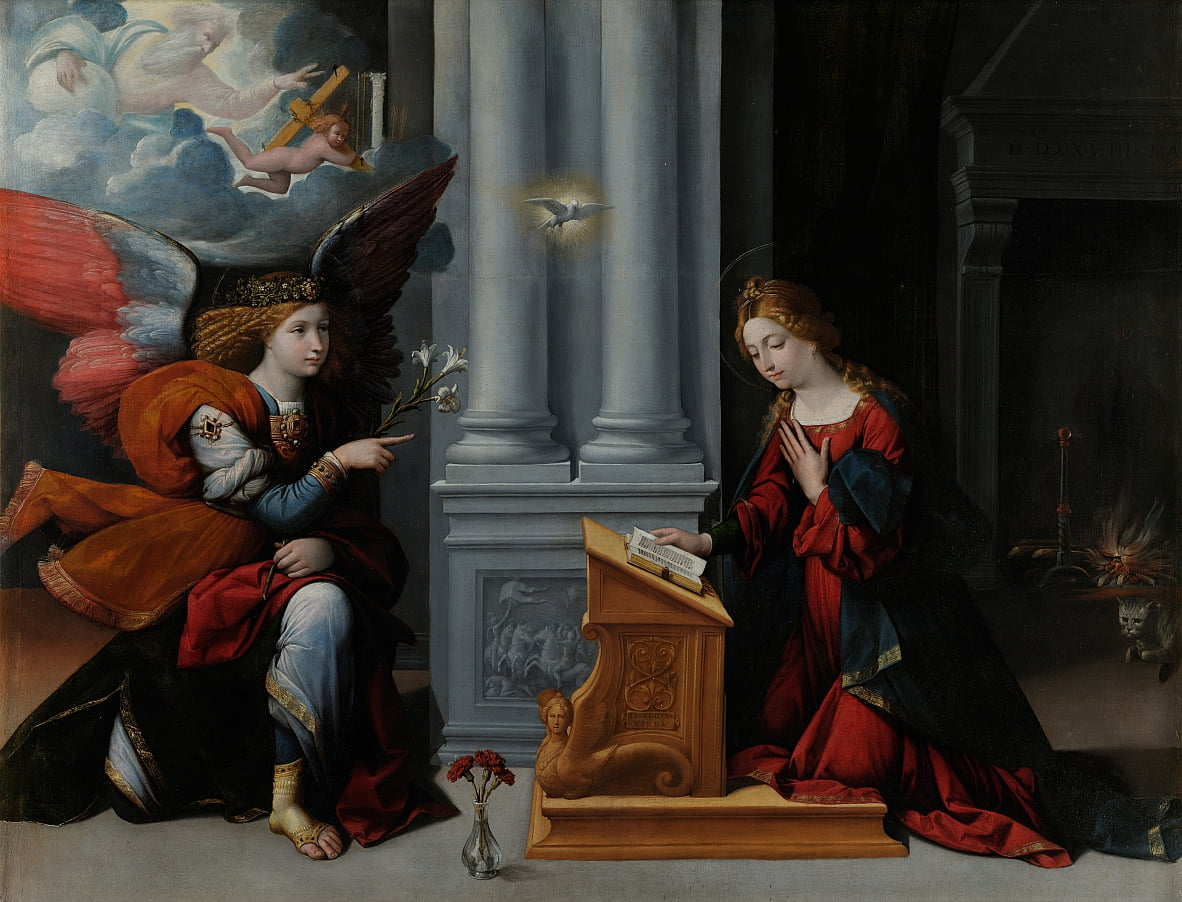 The Annunciation by Benvenuto Tisi da Garofalo