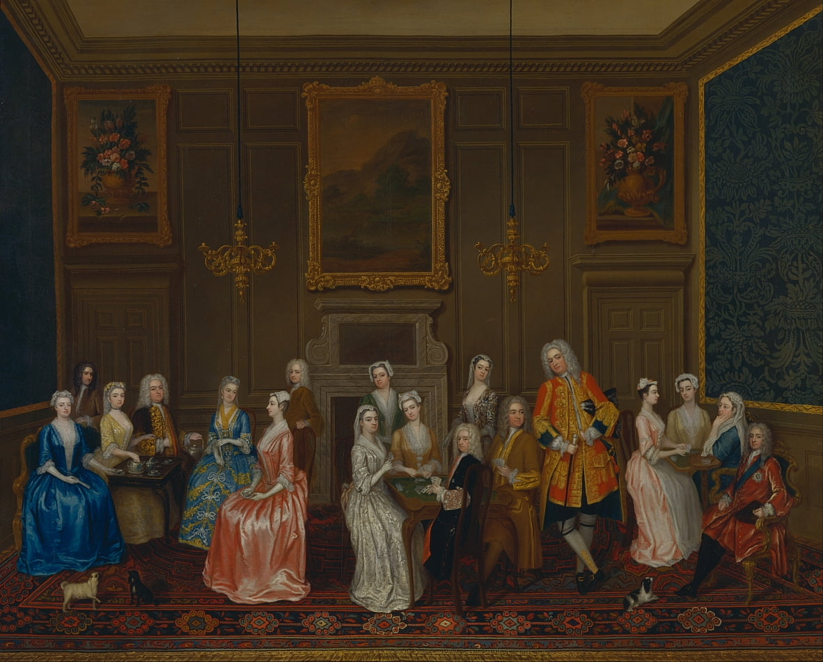 Tea Party at Lord Harringtons House, St. Jamess by Charles Philips
