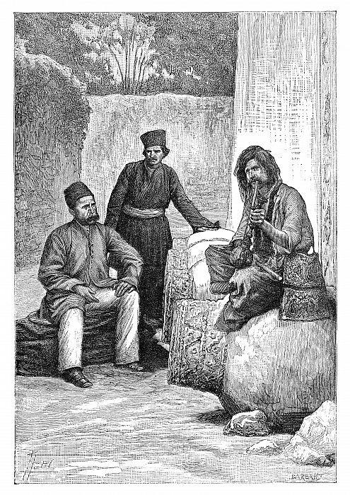 Persische Männer, 1895. von Charles Barbant (#767706)