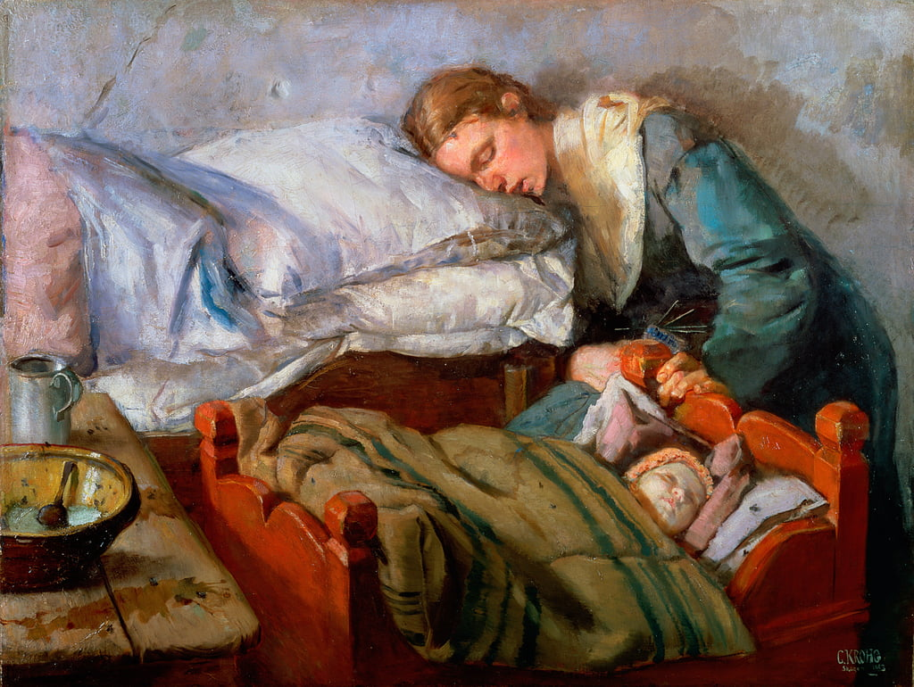 Sleeping Mutter, 1883 von Christian Krohg