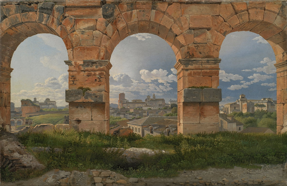 A View through Three Arches of the Third Storey of the Colosseum by Christoffer Wilhelm Eckersberg