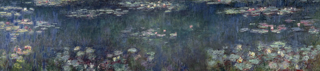 /kunstwerke/500px/Claude Monet - Waterlilies Green Reflections 1914-18 (left and right sectio - (MeisterDrucke-68463).jpg