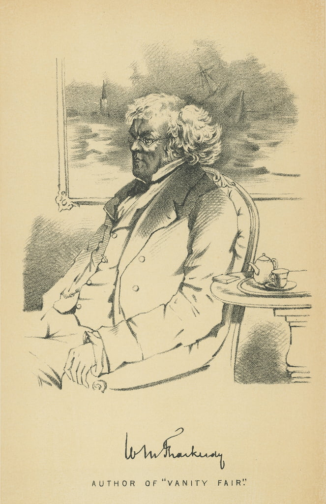 William Makepeace Thackeray von Daniel Maclise