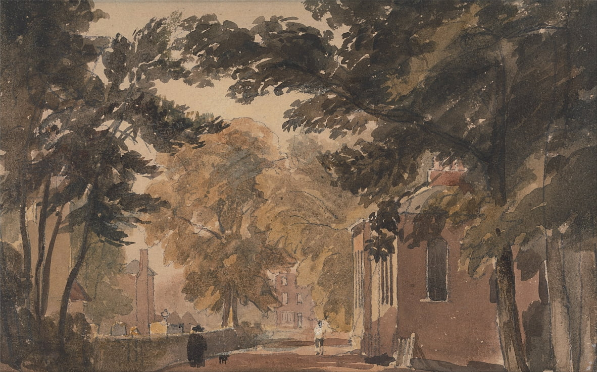A Street in Harborne by David Cox
