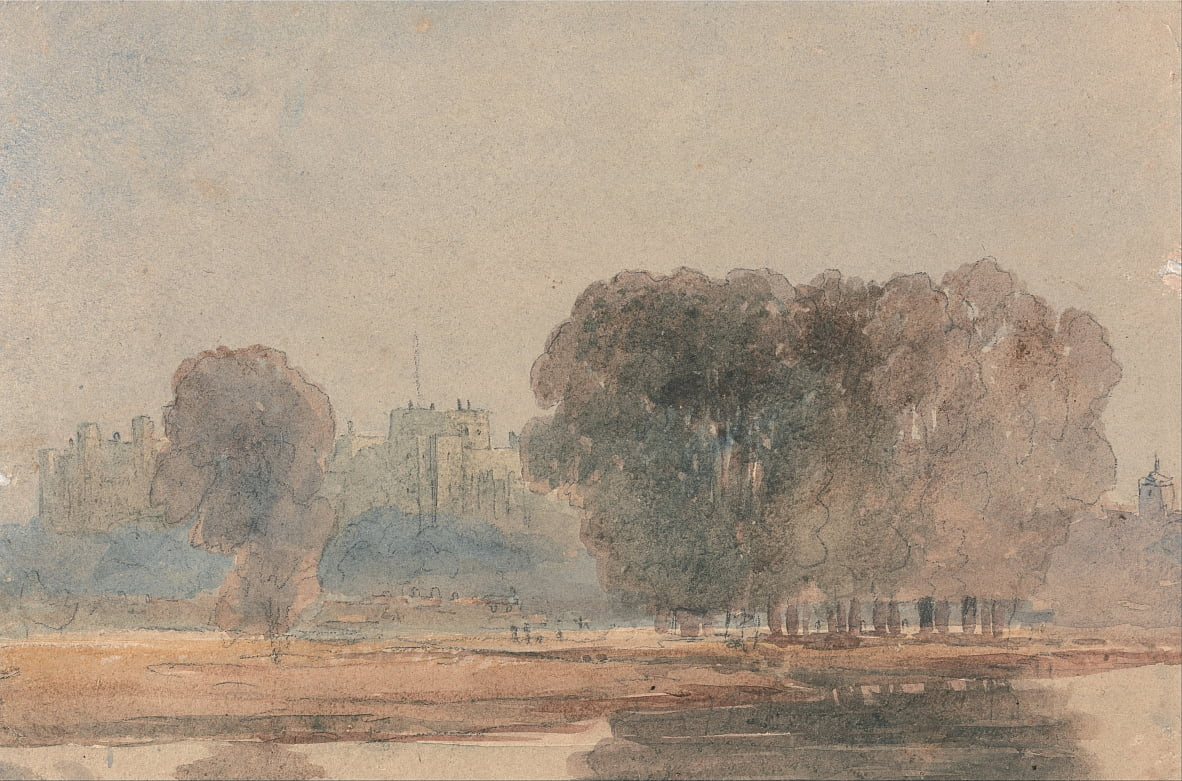 Windsor Castle from the Brocas by David Cox