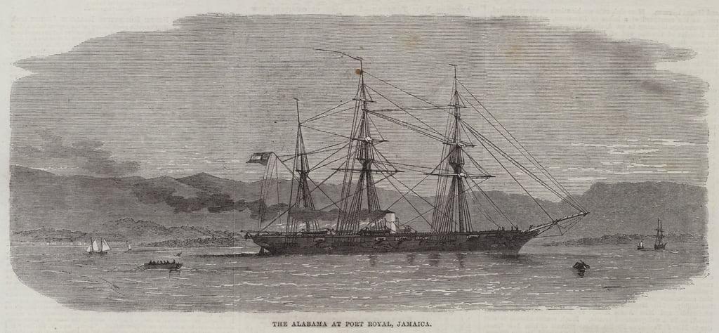 Das Alabama bei Port Royal, Jamaika von Edwin Weedon