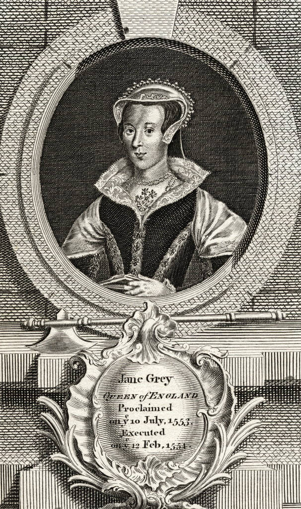 Lady Jane Grey (1537-54) von English School