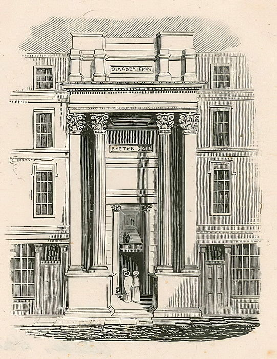 Exeter Hall, Strand, London von English School