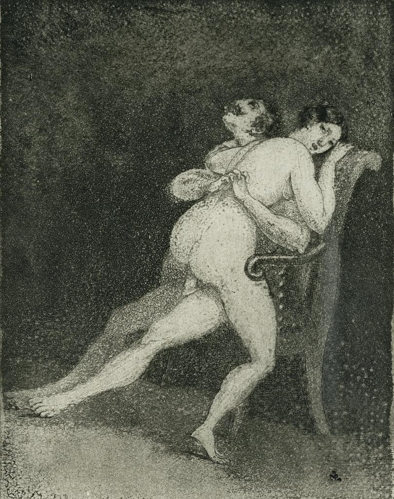 Stuhl sex nackt