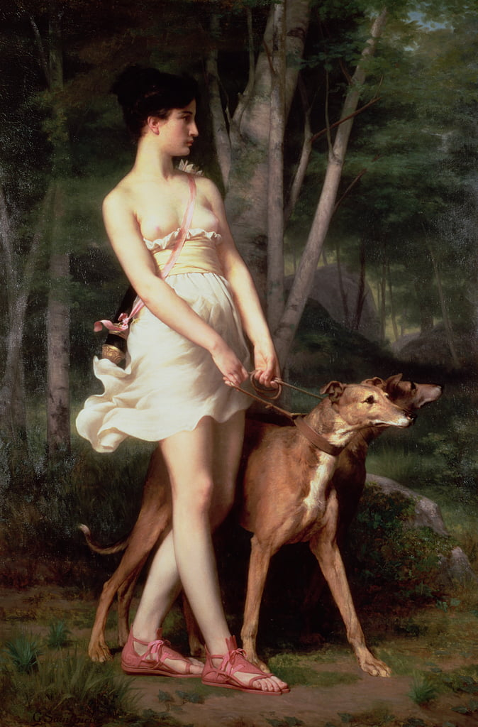 Diana der Huntress von Gaston Casimir Saint Pierre