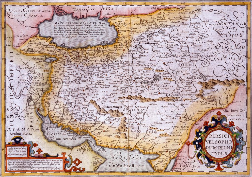Persien Karte.Karte Von Persien 1638 Handkolorierter Stich Von Gerardus Mercator