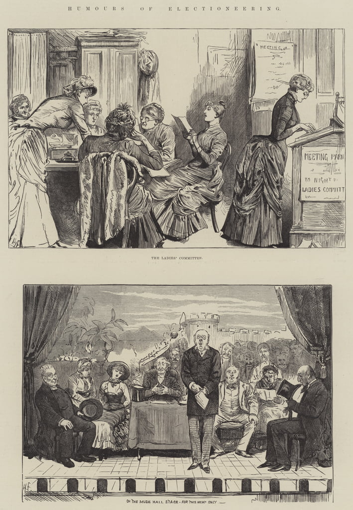 Humours of Electioneering von Harry Furniss