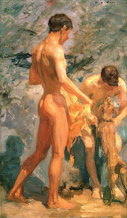 Schwimmen nackt jungs Jungs