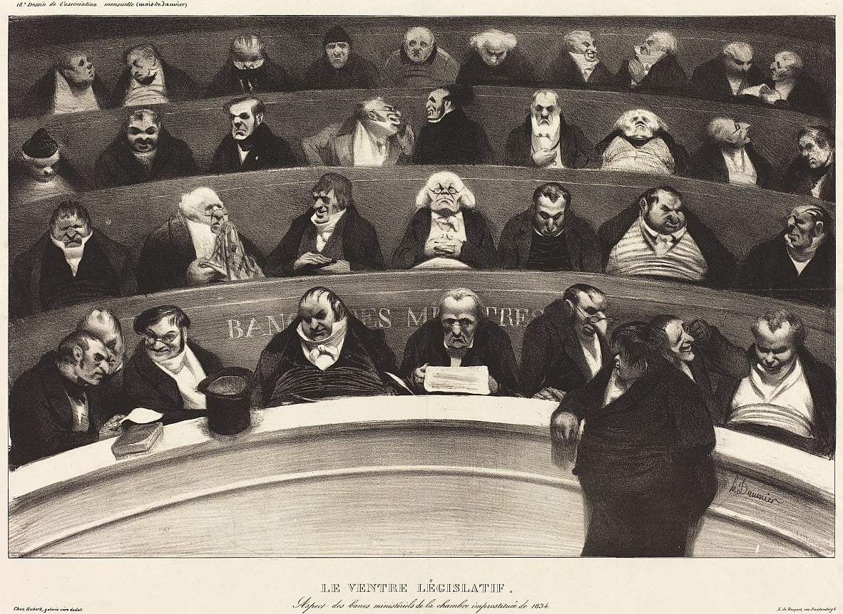 Die Legislative Belly (Legislative Belly) von Honoré Daumier
