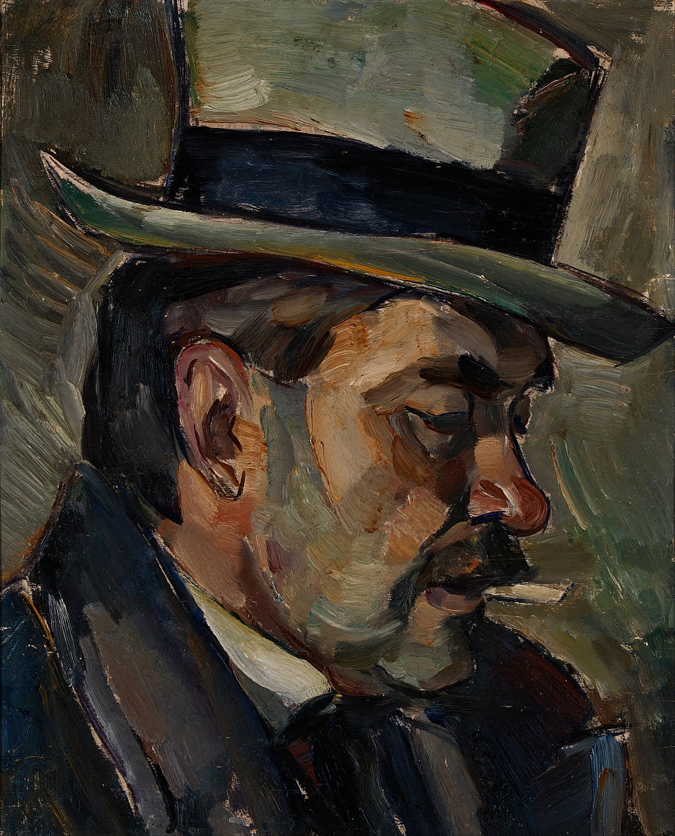 Portrait of artist Karnakoski by Ilmari Aalto
