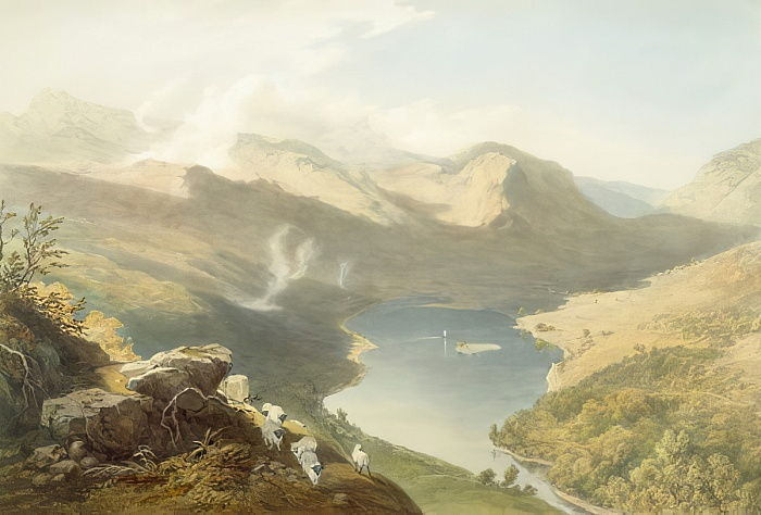 Grasmere aus Langdale Fell, aus The English Lake District, 1853 (siehe 90422 für Details) von James Baker Pyne