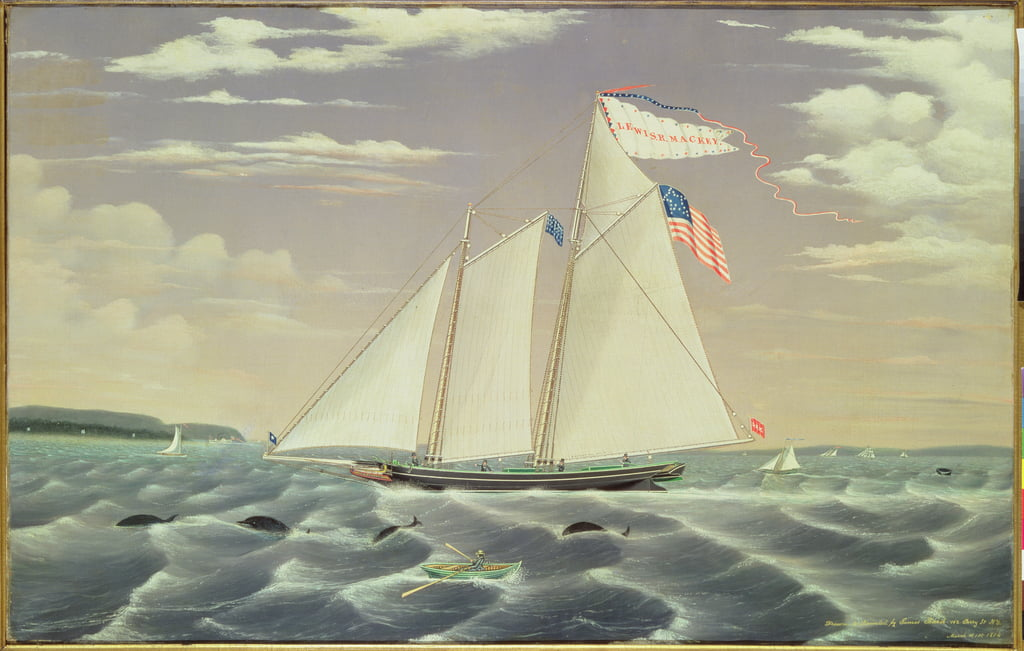 Schooner Lewis R. Mackey, 1854 von James Bard