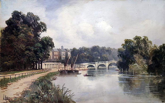 Cholmondeley Walk, mit Blick auf Richmond Bridge von James Lewis