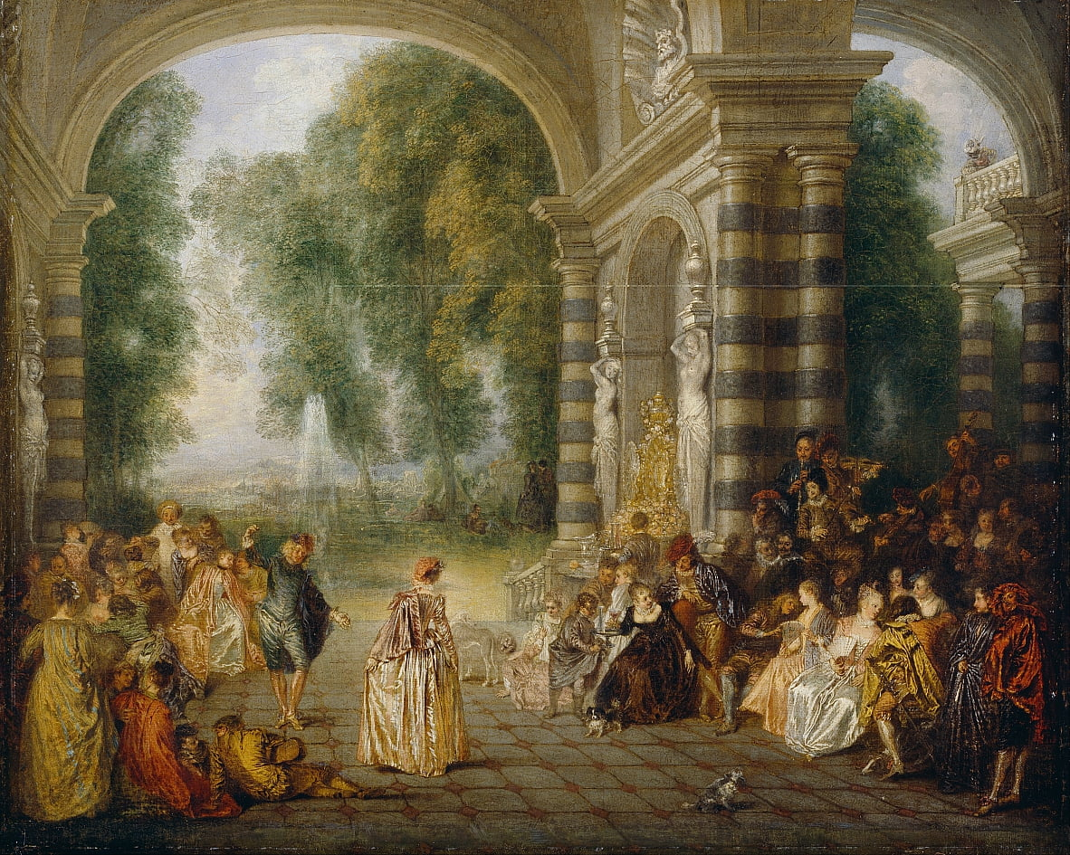 Pleasures of the Ball von Jean Antoine Watteau