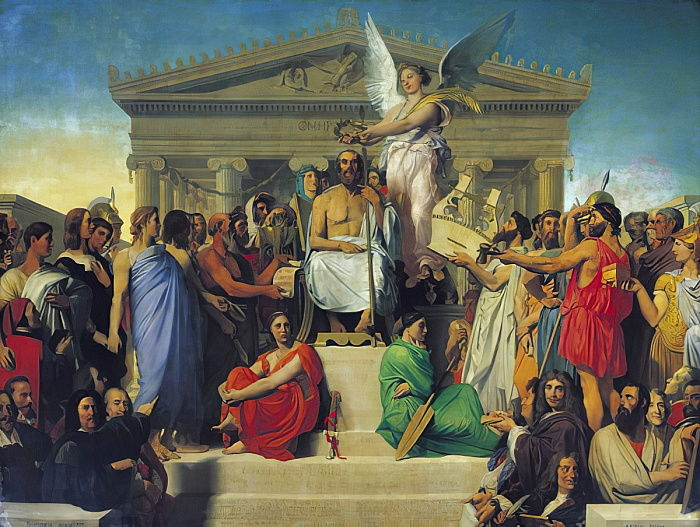 Apotheosis of Homer, 1827  by Jean Auguste Dominique Ingres