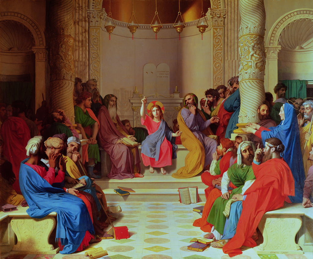 Jesus Among the Doctors, 1862  by Jean Auguste Dominique Ingres