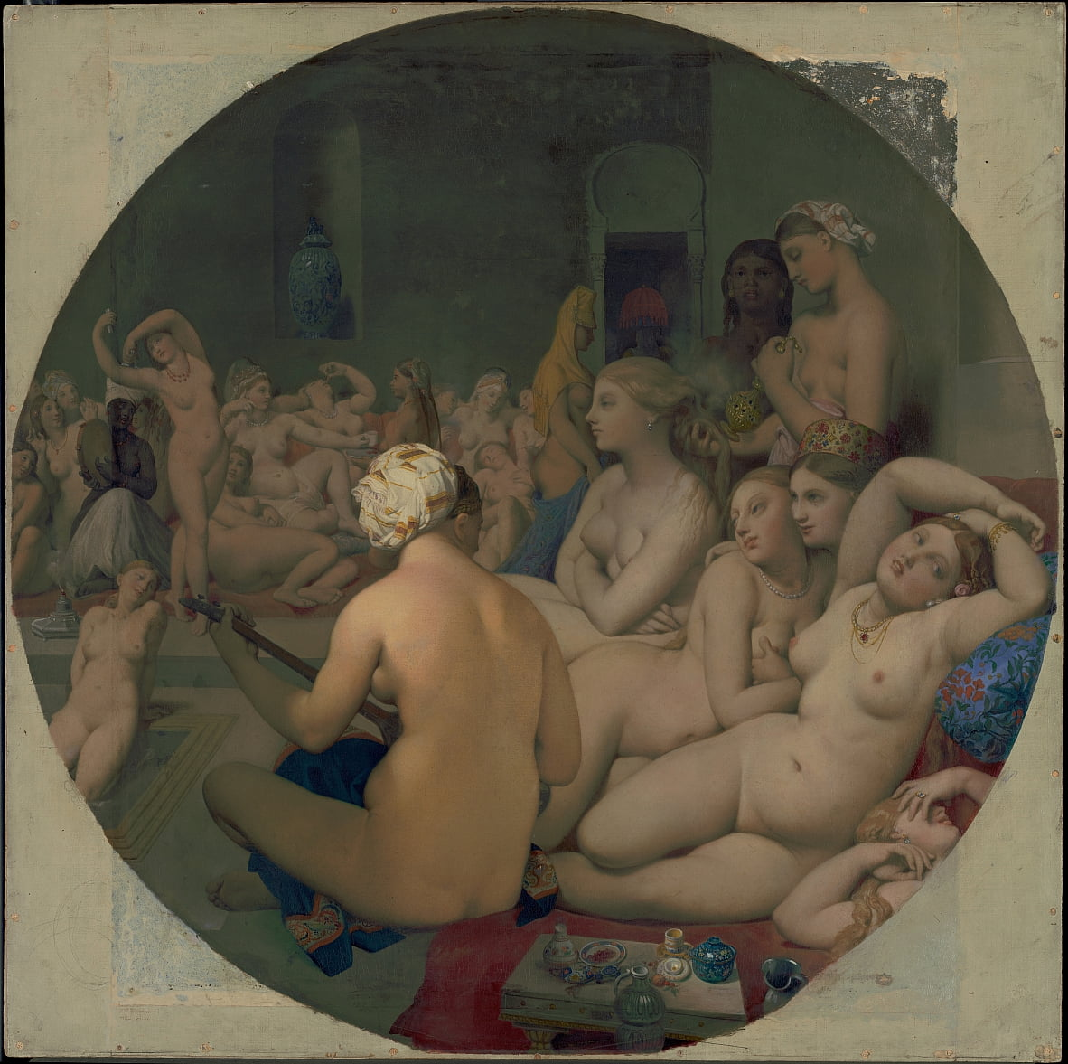 Le Bain Turc by Jean Auguste Dominique Ingres